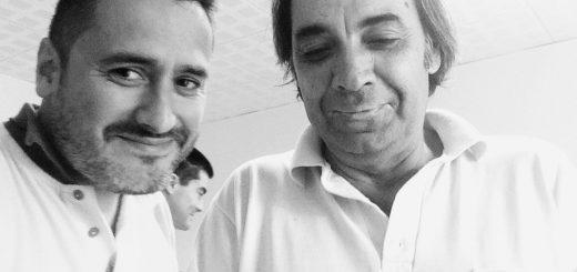 Con mi amigo Eduardo